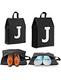 Personalized Initial Travel Shoe Bag (4 Pack) for Men, Women and Kids