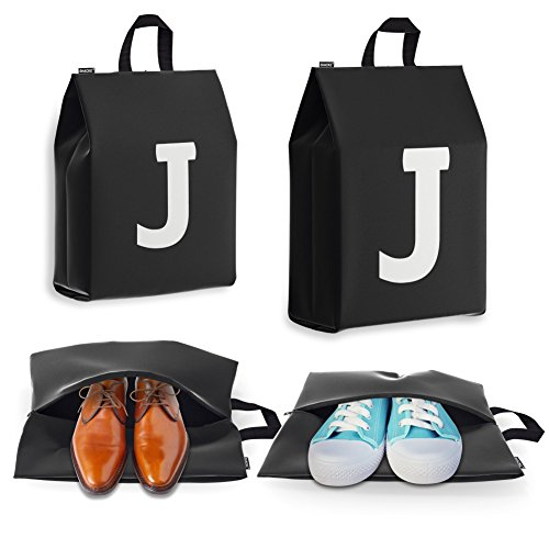 Personalized Initial Travel Shoe Bag (4 Pack) for Men, Women and Kids – (Letter J) for $<!--$9.99-->
