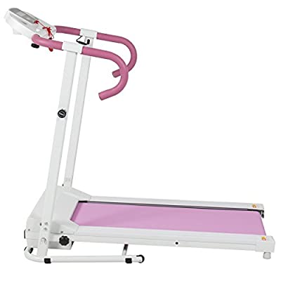 Alitop 500W Portable Folding Electric Running Fitness Machine - Pink