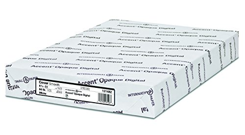 Accent Opaque, Smooth Cover White, 80lb, Letter, 8.5 x 11, 97 Bright, 250 Sheets / 1 Ream, (131482R) Made in The USA