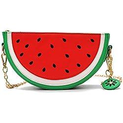 New Cute Fruits Watermelon Lemon Cross body Bags Clutch Purse Novelty Shell Pearl Shoulder Bags