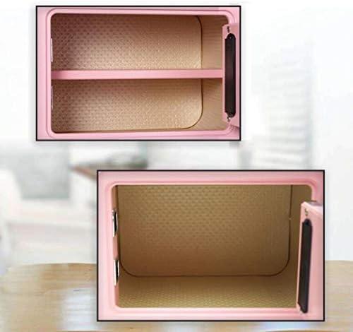 パーツボックス 安全な2色のオプションのロックを解除デザインを備えた電子パスワードホームベッドルームミニロッカーオフィスインビジブル金庫 (Color : B, Size : 35*28*25cm)