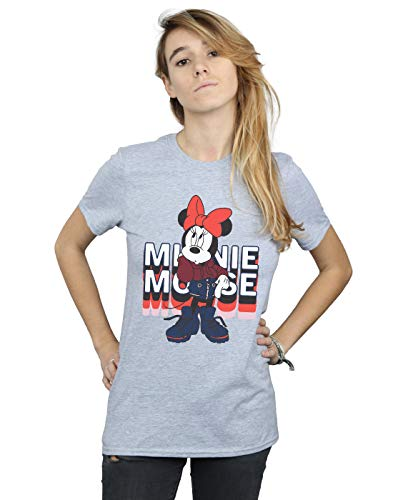 Hoodie In shirt Femme Fit T Gris Petit Minnie Disney Sport Mouse Ami xIBwt71z