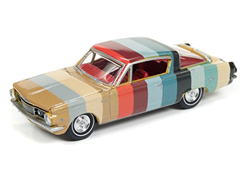New 1:64 AUTO WORLD PREMIUM 2017 COLLECTION - Multi-Color 1964 Plymouth Barracuda Diecast Model Car By Auto World (Car Barracuda Plymouth)