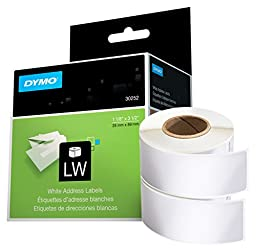DYMO LW Mailing Address Labels for LabelWriter Label Printers, White, 1-1/8\'\' x 3-1/2\'\',2 rolls of 350