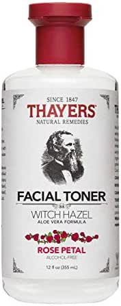 Thayers Alcohol-free Rose Petal Witch Hazel with Aloe Vera, 12 Fl Oz (Pack of 1) (Package may vary)