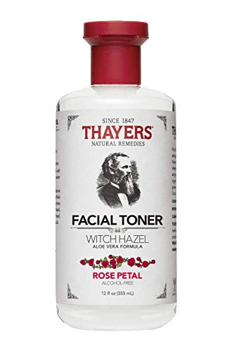 - Thayers Alcohol-free Rose Petal Witch Hazel with Aloe Vera, 12 oz (Package may vary)