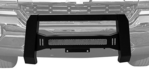 BETTER AUTOMOTIVE Mesh Version Modular Bull Bar Front Bumper Brush Guards Textured Black for LED Off-Road Lights for 2007-2018 Chevy Silverado / GMC Sierra 1500 Pickup (Chevy Truck Brush)