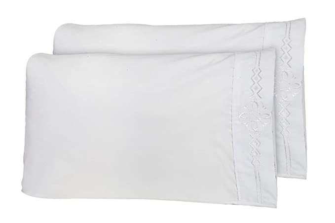Amazon.com: Último Premier Hoja 1800 Juego de cama - con Majestic Bordado - Queen Size, White: Home & Kitchen