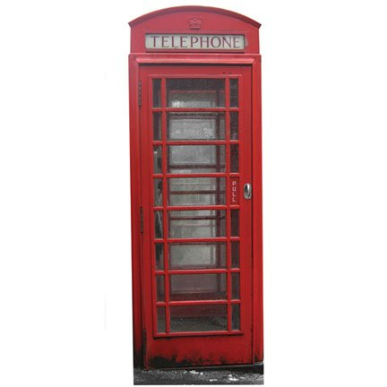 WGH10120 British Telephone Booth Vinyl Wall Decal Graphic