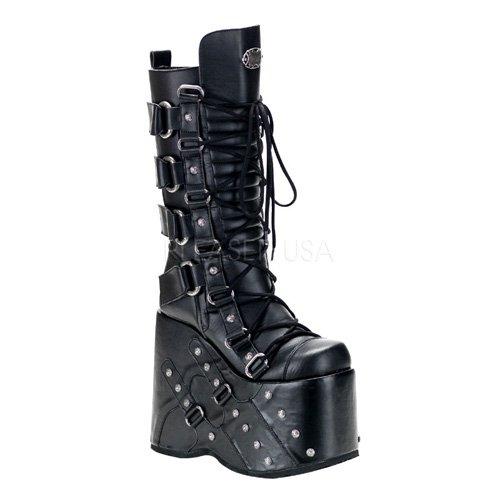 Pleaser Men'S 7 Inch Platform Buckled Knee Boot With Rive...