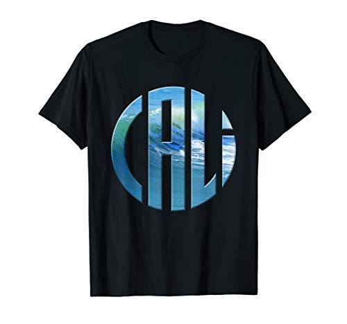 Cali Circle Wave Logo (Light) T-Shirt for California Fans ()