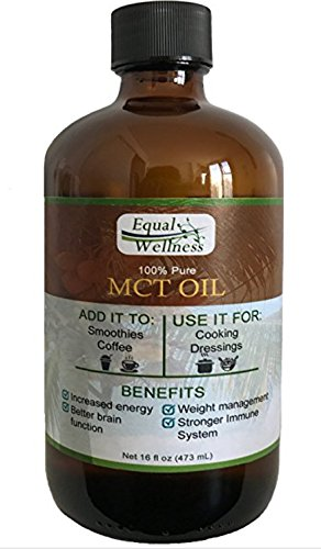 Equal Wellness Pure MCT Oil in 16 oz Glass Bottle. Made 100% from Coconuts and Great for Keto Diet. by Equal Wellness