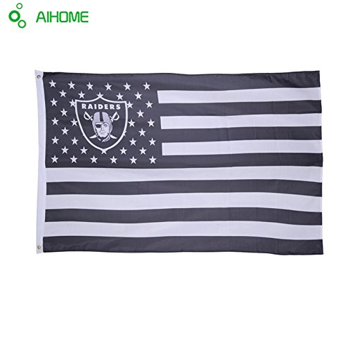 Oakland Raiders Stars and Stripes 3x5 Ft Raidernation