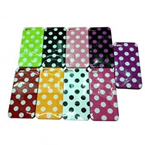 Fashion Dot Pattern Hard Plastic Protective Case Cover For iPhone 5 5G -*- Color -- Black & Purple