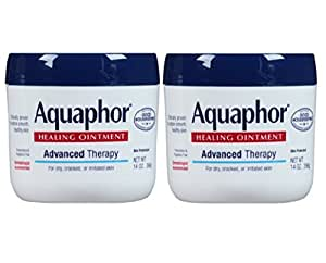 Aquaphor Healing Ointment, Dry, Cracked and Irritated Skin Protectant, 14 Oz (Pack of 2)