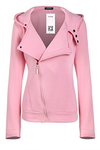 ACEVOG Women's Zipper Casual Long Sleeve Hoodie Sweatshirt Jacket Outwear Coat