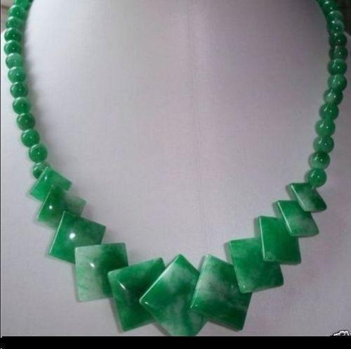 Women's Natural BC Green Jade Gemstone Necklace (Bc Jade)