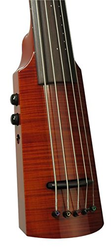 NS Design WAV Omni Bass, 5 String with padded bag and Boomerang strap. Amberburst