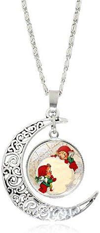 Drawihi Collar colgante medio de la plata de la piedra preciosa de Santa Claus
