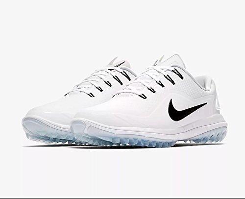 Nike New Mens Lunar Control Vapor 2 Golf Shoes White/Black/Platinum Sz 12M