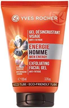 Yves Rocher Men Energy Scrub Face Gel Fatigue Fighter, 100 ml./3.3 fl.oz.
