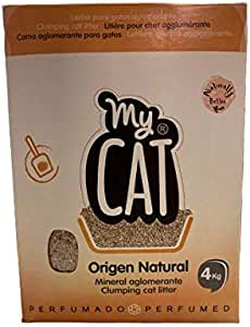 Mycat - Arena para Gatos con microgránulos perfumados, 4 kg ...
