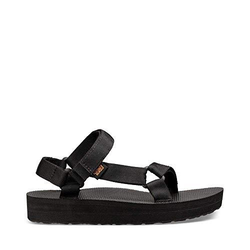 Teva Women's W MIDFORM Universal Wedge Sandal, Black, 08 M U