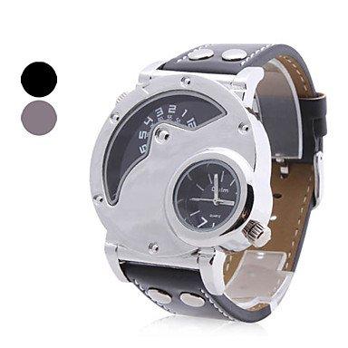 HE Shop Reloj Pulsera Quartz Análogo y Cuero PU de Hombre (2 Zonas y Colores