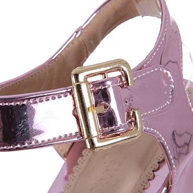 LvYuan Mujer-Plataforma-Otro-Sandalias-Oficina y Trabajo Vestido Fiesta y Noche-PU-Rosa Plata Oro Pink