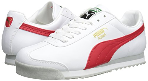 PUMA Men's Roma Basic Fashion Sneaker, White/High Risk Red/White - 9 D(M) US by PUMA (Image #6)