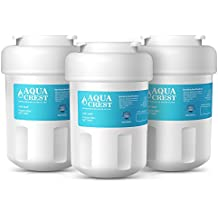 AQUACREST MWF Replacement for GE MWF SmartWater, MWFA, MWFP, GWF, GWFA, Kenmore 469991 Refrigerator Water Filter(Pack of 3)