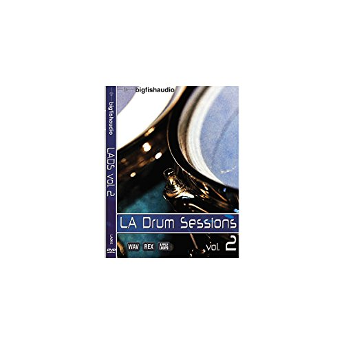 Big Fish LA Drum Sessions Vol. 2 Sample Library DVD 2 Sample Library Dvd