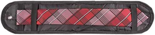 TravelMate Beautiful Tie Pouch, Nylon Travel Tie Case Necktie Travel Roll (2 Pack)