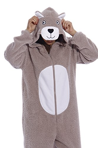 Just Love Adult Onesie / Pajamas - Medium - Teddy Bear]()
