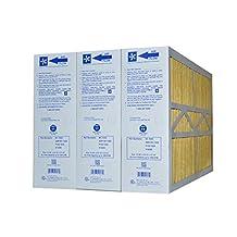 M1-1056 GENUINE ORIGINAL MERV 11 (Actual Size: 15-3/8 X 25-1/2 X 5-1/4) GOODMAN, ELECTRO-AIR, FIVE SEASONS, CARRIER, AMANA,TRANE, YORK, TOTALINE, BRYANT, REPLACEMENT MEDIA FILTERS CASE OF 3