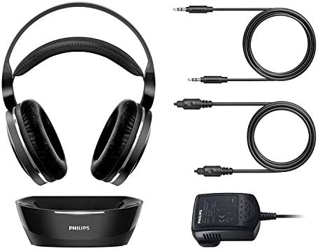 PHILIPS Digital Wi-fi Headphones for TV Watching, Over Ear Stereo Headset, Excessive Decision Residence Cinema Sound Audio, 2.4GHz RF Transmitter, Wired Reference to Charging Dock