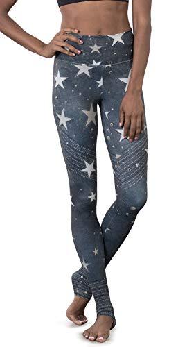 Rock Star Pants - EAGLE ROCK WERKSHOP Athletic Performance Leggings/Yoga Pants - Athleisure Wear for Women - Stars