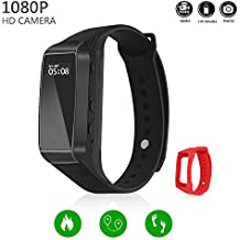 Hidden Camera LKcare HD 1080p Spy Camera 16GB Wristband Sports Camera Rechargeable Portable Surveillance Camcorder Latest Model With Tracker Function And Lens-Shielded Design