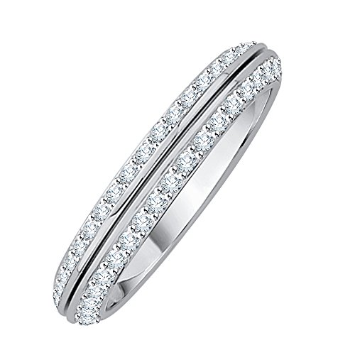 Diamond Anniversary Ring in Sterling Silver (1/4 cttw) (GH Color, I2-I3 Clarity) (Size-7.25) by KATARINA