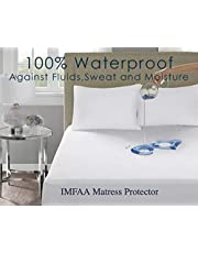 IMFAA Water Proof Terry Towel Mattress Protector Topper Cover, Non Noisy,Anti Bacterial Single,Double,King,S-King,Cot Bed and Pillow Pair.