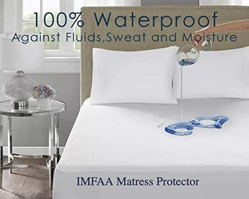 IMFAA 100% Water & Moisture Proof Terry Towel Mattress Protector - Double King Pleasure
