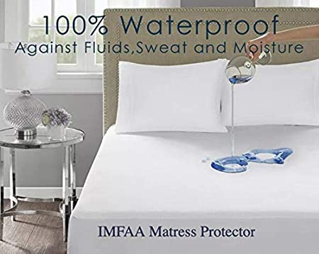 IMFAA 100/% Water /& Moisture Proof Terry Towel Mattress Protector Breathable Topper Cover in All Sizes 4 FT-40Cm Deep Non Noisy,Anti Bacterial