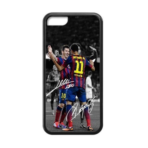 iphone 5 5s case discount black border Cases for Iphone 5,5S Apple FC Barcelona Lionel (Easy Diy Costumes Men)