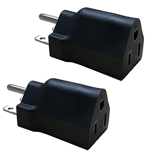 BloomGrow 110V / 120V to 220V / 240V Plug Adapter for US (2 PCS)