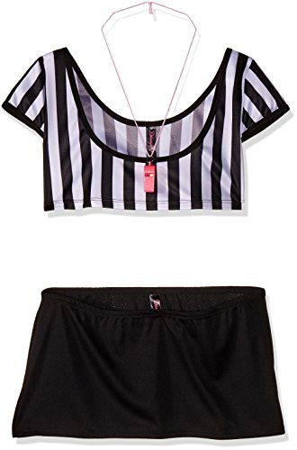Ref Costume Amazon (Dreamgirl Women's Foul Play Referee Costume Set, Foul Play, One Size)