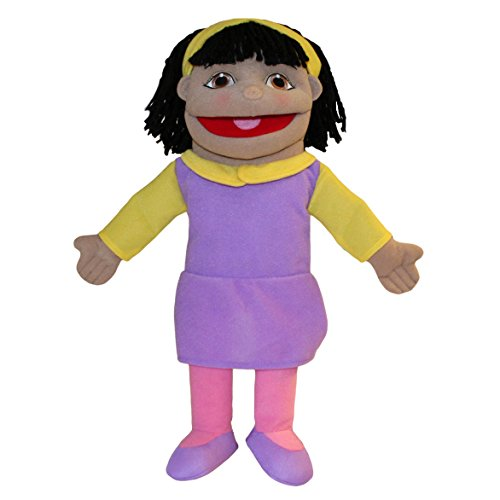Girl Puppet Skin (The Puppet Company Small Sized Puppet Buddies Girl Hand Puppet - Olive Skin Tone)
