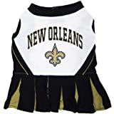 Pets First NFL New Orleans Saints Dog Cheerleader Dress, Small