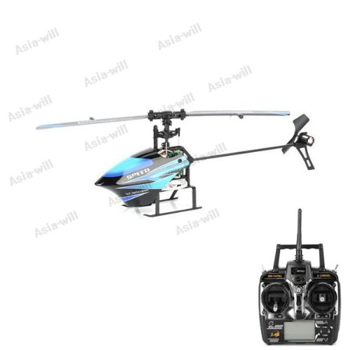 2.4GHz 6-Channel Radio Control R/C Helicopter with LCD Remote Control – Blue + Black Reviews