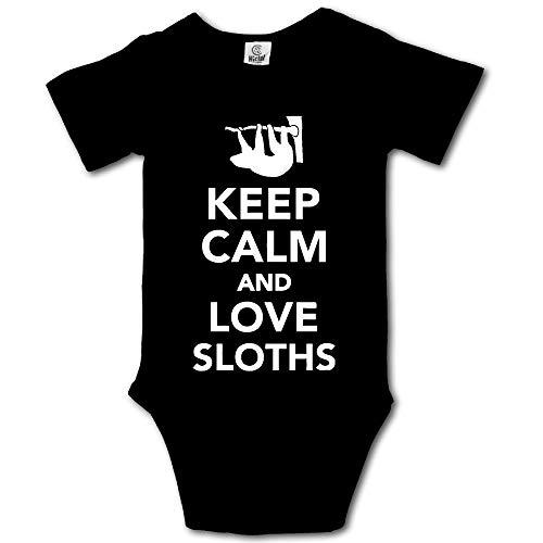 Keep Calm Love Sloths Newborn Baby Girl Clothes
